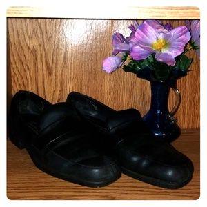 Black Leather Laura Scott Hopscotch Loafers